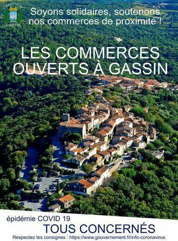 Crise du COVID19 - Commerces ouverts à Gassin (drive, livraison)
