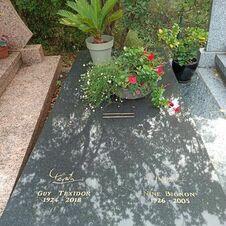 Tombe de Guy Texidor, enterré au cimetière de Gassin - https://gassin.eu