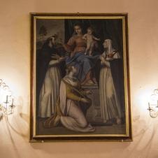 Le Don du Rosaire par Coriolano Malagavazzo - peinture crémonaise à Gassin - https://gassin.eu