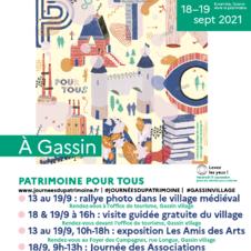 Journées du Patrimoine 2021 à Gassin - https://gassin.eu/fr/animation/culture/gassin/journees-europeennes-du-patrimoine-2021-5821815/