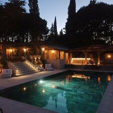 Piscine de nuit Villa Dune