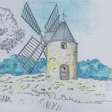 Le Moulin Brûlât de Gassin : vue intérieure