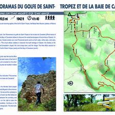 Hiking map Panorama of the Gulf of Saint-Tropez