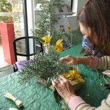 Atelier et mise en place des premières fleurs
